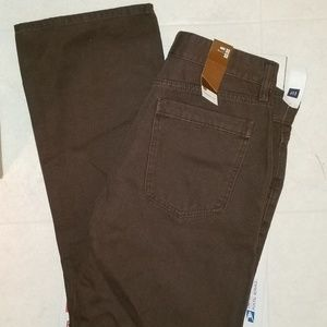 NWT MENS GAP  BROWN JEANS  SIZED:32X32